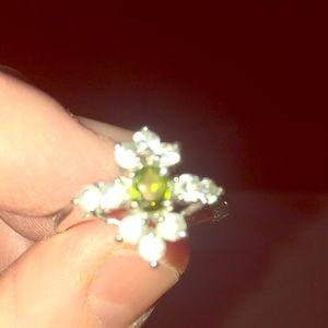 Cute peridot dinner ring.